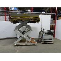 """1500lb Hydraulic Scissor Lift Table 84""""x60"""" Top 18 to 91"""" Lift (12 sec) 460V 3PH"""