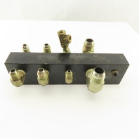 "10 Port Parallel Hydraulic Manifold 3/4"" 1/4"" 3/8"" NPT Ports"