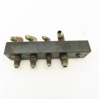 "10 Port Parallel Hydraulic Manifold 1/2"" 1/4"" 3/8"" NPT Ports"