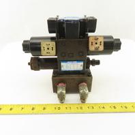 Nachi SL-G01-E3X-GR-D2-5227H 4/2 Position Regulated Hydraulic Valve Manifold 24V