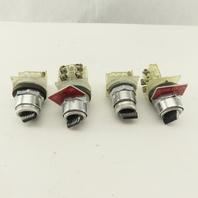 Square D Class 9001 KA-1 600V AC/DC 2 Position Selector Switch Lot Of 4