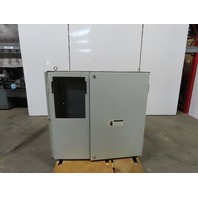 """Electrical enclosure 47""""x48""""x22"""" Double Door W/ Back Plate"""