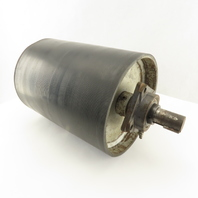 """8-3/8"""" OD Crowned Lagged 10-7/8"""" Face Conveyor Drum Roller Pulley 1-1/8"""" Shaft"""