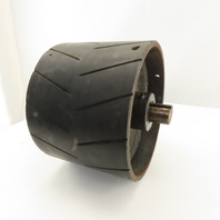 """8-3/4"""" OD Lagged 6-1/4"""" Face Conveyor Drum Roller Pulley 1-1/4"""" Keyed Shaft"""