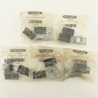 """Hydac HRZ 2 A 12.7-12.7 PP UNC 1/2"""" Tube Standard Duty  Twin Tube Clamp Lot Of 5"""