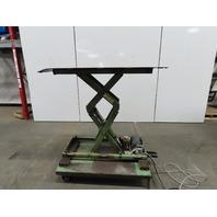 "2000Lb Hydraulic Scissor Lift 52""x 26"" Table 14-1/2 to 52"" Ht. 115V Single Phase"