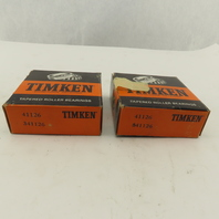 Timken 41126 Tapered Cone Caged Roller Bearing Lot of 2