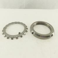 Whitten Higgins AN18 & W-18 Bearing Retaining Lock Nut Set W/Bearing Lock Ring