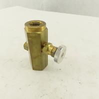 Deltrol F20BK Pneu-Trol 1/4 Brass Flow Control Needle Poppet Valve