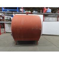 HEIL 2000 Gal Cap Horizontal Double Wall Stainless Steel Storage Tank W/Agitator