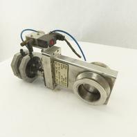 "MDC KGV-2000V-P-02-03 High Vacuum Pneumatic Stainless Steel Gate Valve 2"""
