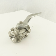 "Ladish H430 7A 1"" Sanitary Flange 316 Stainless Steel Ball Valve 250PSI"