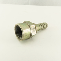"Gates 8-8FP 1/2-14  Female x 1/2"" Hose Barb Hydraulic Fitting"