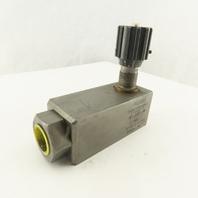Flutec SRVR-16-01.3/5 3/4 NPT Hydraulic Flow Control Valve 3000 PSI
