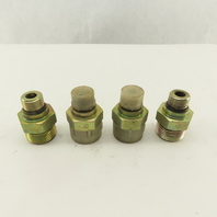 3/4-16 (-8) O-Ring Boss x 1-3/16-12 O-Ring Face Hydraulic Fitting Lot Of 4