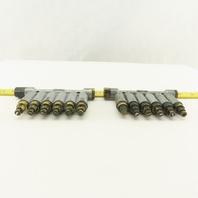 DPB-26 6 Way Piston Lubricator Manifold Lot Of 2