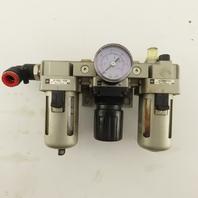 SMC AF3000-03D AR3000-03 3/8 Inline Filter Regulator Lubricator 1.0MPa
