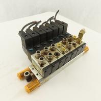 Shako BM520 2 Way Pneumatic Single Solenoid Valve Bank Manifold 110V Coil
