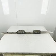 Okuma THK 55mm Wide Linear Guide Rail & Bearing Blocks 1400mm OAL