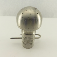 """Klenzade 25-1/2"""" Stainless Steel Laboratory Tangential Sanitary Spray Ball"""