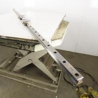 "Rexroth R165131420 35mm Profile Linear Guide Rail Bearing Blocks 87-3/8"" OAL"