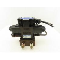 Yuken DSG-01-2D2-D24-50 4/2 Position Double Solenoid Modulated Valve Manifold