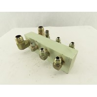8 Port Parallel Steel Block Hydraulic Manifold