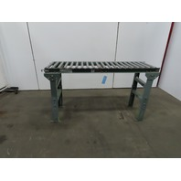 "Uline H5012 Light Duty Gravity Conveyor 18""x 60"" 16"" BF W/27-35"" Ht Legs"