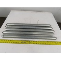 "Hytrol GALV G-03922 1.90 OD 31"" BF Gravity Roller Galvanized 7/16""Axle Lot Of 5"