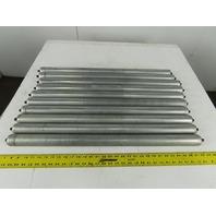 "Hytrol GALV G-03922 1.90 OD 31"" BF Gravity Roller Galvanized 7/16"" Axle Lot/10"