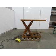 "Econo Lift 4000Lb Hydraulic Scissor Lift 48""x 48"" Table 115V Single Phase 1Ph"