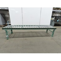 """30""""x 120"""" Gravity Roller Conveyor 27"""" BF 1.90 Rollers 4-1/2"""" Centers W/Legs"""