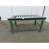 """30""""x 60"""" Gravity Roller Conveyor 27"""" BF 1.90 Rollers 4-1/2"""" Centers W/Legs"""