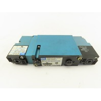 Mac 92B-EAF-000-DM-DFFP-1DM 5/3 Way Closed Center Pneumatic Solenoid Valve 24VDC