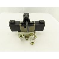 SMC VS7-6-FJG-D-3Z 5/3 Position Exhaust Center Valve Sub Base 24VDC