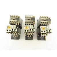Fuji SJ-0G TR-ON/3 600V Magnetic Contactor Overload Mixed Amp Range Lot Of 3
