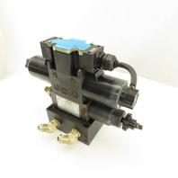 Nachi SL-G01-E3X-R-D2-31 3 Way Hydraulic Valve Modular Section Manifold