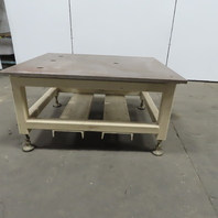 "1"" Blanchard Ground Top 44x52x27-1/2"" Steel Machine Base Layout Work Bench Table"