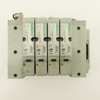 Numatics 122BA400M000061 Single Solenoid 2 Way Air Valve Bank Manifold 24VDC