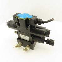 Nachi SL-G01-E3X-R-D2-31 3 Way Double Solenoid Regulated Hydraulic Valve