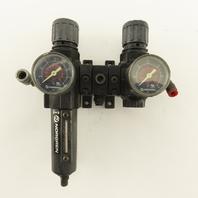 "Norgren B72G-2AK-AE1-RMG 1/4"" Airline Filter Regulator Lubricator FRL 150 PSI"