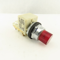 Square D Class 9001 KM-1 110V Red Light Indicator Momentary Contact Switch