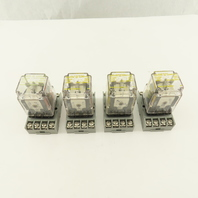 Square D Class 8501 Type NR51 120V Ice Cube Relay With Socket Base Lot Of 4