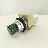 Square D Class 9001 Type KM-1 120V Green Lighted Momentary Contact Push Button