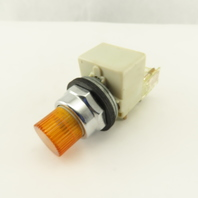 Square D Class 9001 KA-1 600V Lighted Momentary Contact Push Button Amber