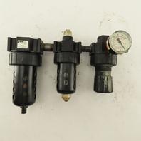 Parker 07F36AC 1/2 NPT Compressor Air Filter Lubricator Regulator 150 PSI