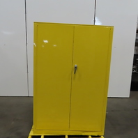 Protoseal 5545 45 Gallon Cap Flammable Liquid Storage Cabinet Yellow 4 Shelf