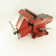 "Columbian D45 5-1/2"" Swivel Base Combination Pipe Bench Vise No Jaws 6"" Open"