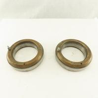 SB 100 100mm ID x 150mm OD Ball Bearing W/ Brass Wear Plate Caps Lot Of 2