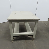 "1"" Blanchard Ground Top 37""x48""x36"" Steel Machine Base Layout Work Bench Table"